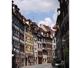 Calle-de-los-curtidores-en-Nuremberg
