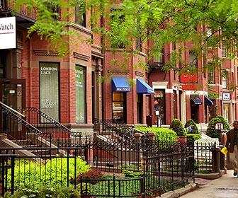 Newbury-Street-en-Boston